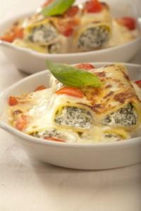 Cannelloni z serem ricotta i szpinakiem