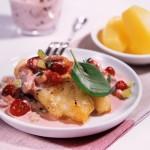 Filety z halibuta z żurawiną amerykańską