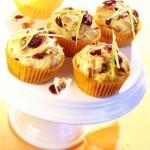 Serowe muffinki z żurawiną amerykańską