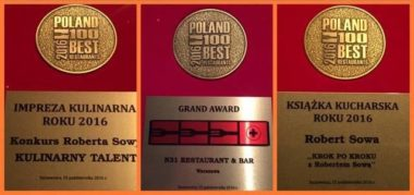 Hat-trick Roberta Sowy w 100 Best Restaurants Awards 2016