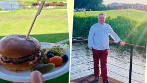 Robert Sowa gotował na otwarciu nowego pola golfowego